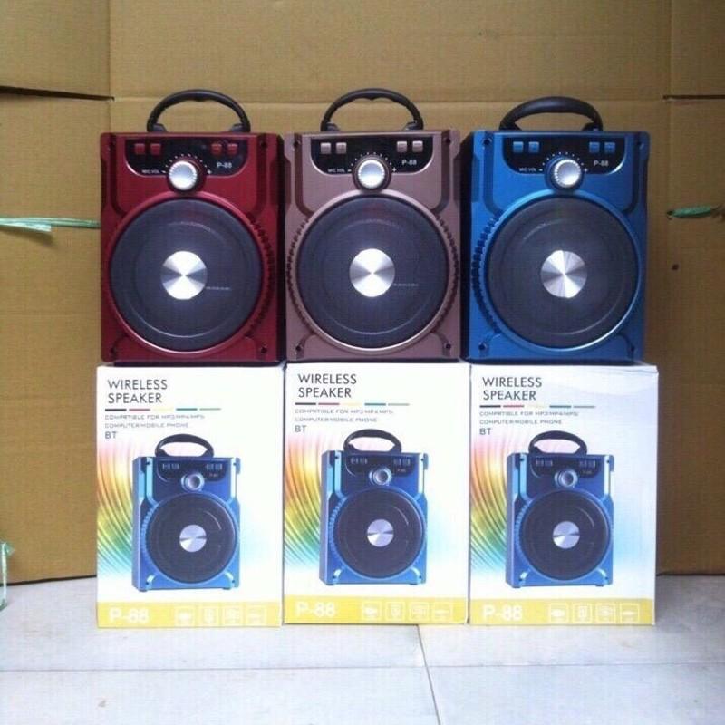 Mã Khuyến Mại Loa Bluetooth P88 Am Thanh Cực Chuẩn Tặng Kem Micro Hat Karaoke Rẻ