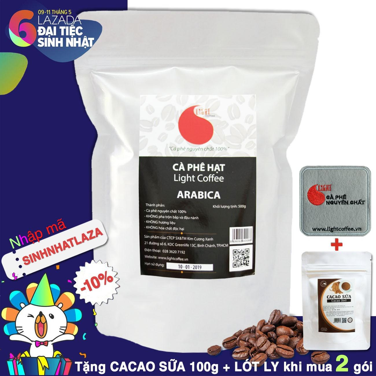 Mua Ca Phe Hạt Arabica Nguyen Chất 100 Light Coffee 500Gr Light Coffee Rẻ