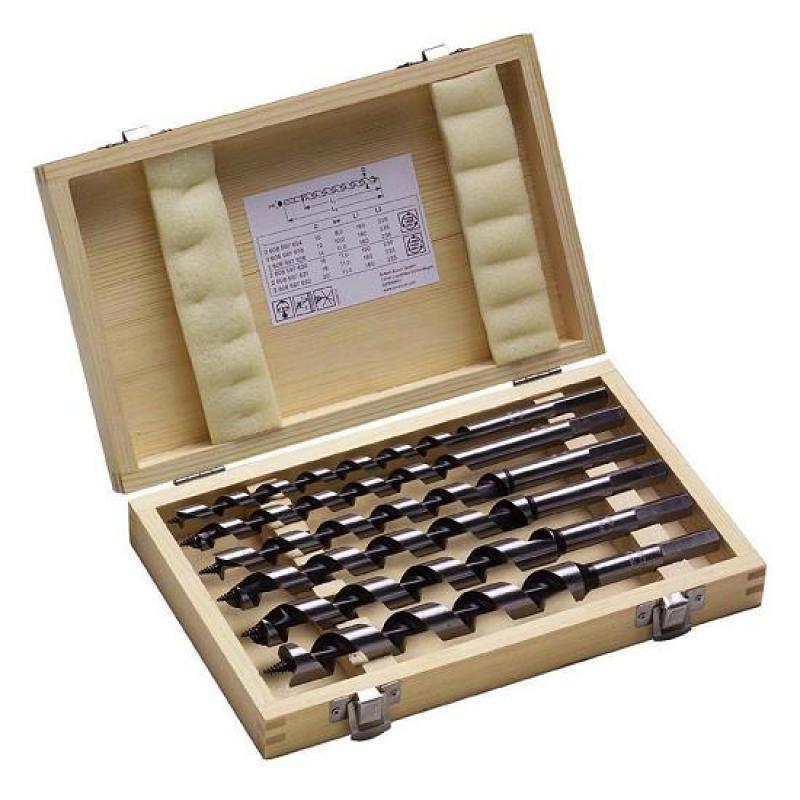 Bộ 6 mũi khoan gỗ xoắn ốc Bosch
