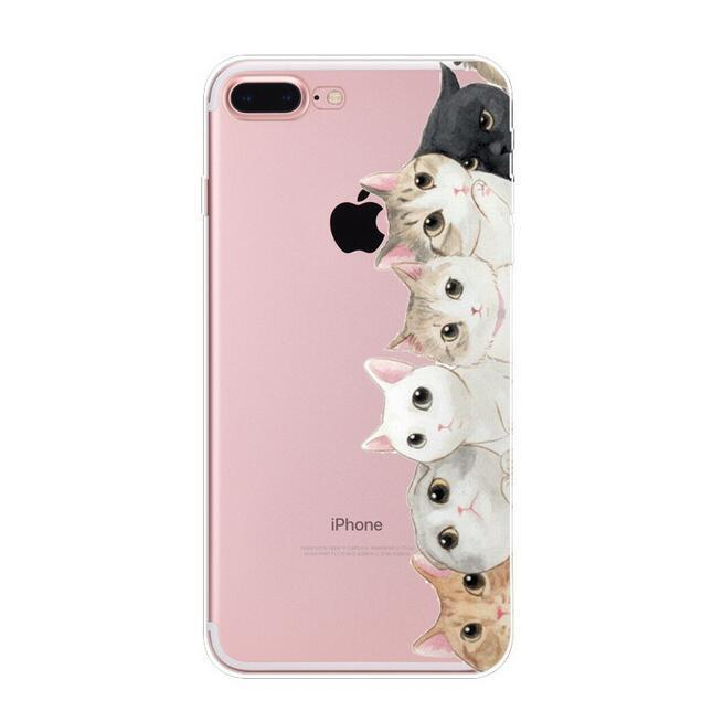 5 Xiao Huo Modis Keberuntungan Kucing Lukisan untuk iPhone 7 Plus Case Sederhana Tpu Telepon Case untuk iPhone 7 Plus Sarung -Internasional