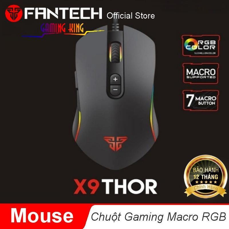 Chuột gaming Macro RGB 4800dpi với 7 chế độ tùy chình Fantech X9