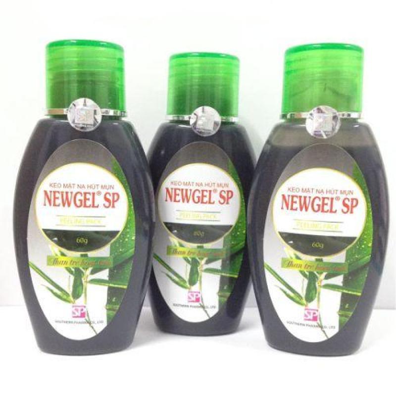 Bộ 3 Keo mặt nạ hút mụn NEWGEL than tre hoạt tính 60g nhập khẩu
