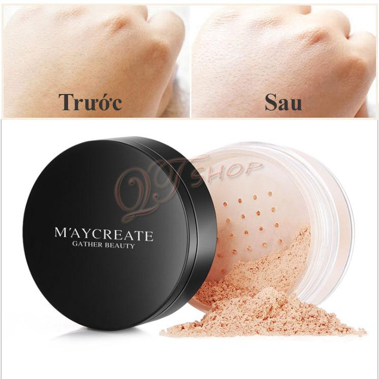 Phấn phủ che khuyết kiềm dầu Maycreate PP491
