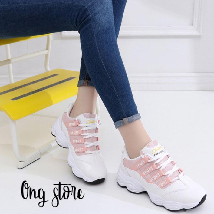 Hình ảnh Giày thể thao nữ giày sneaker nữ kiểu dáng Hàn Quốc