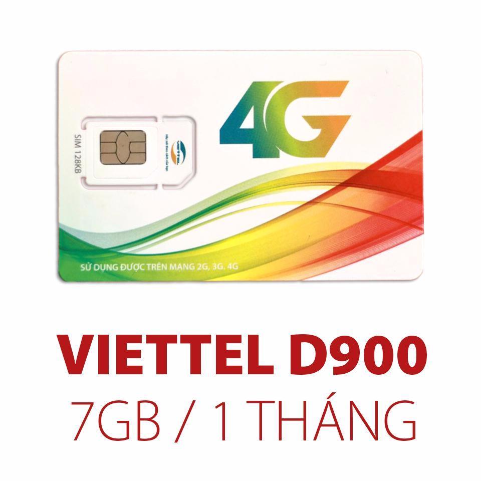 Sim 4G Viettel D900 Trọn Goi 1 Năm 7Gb Thang Rẻ