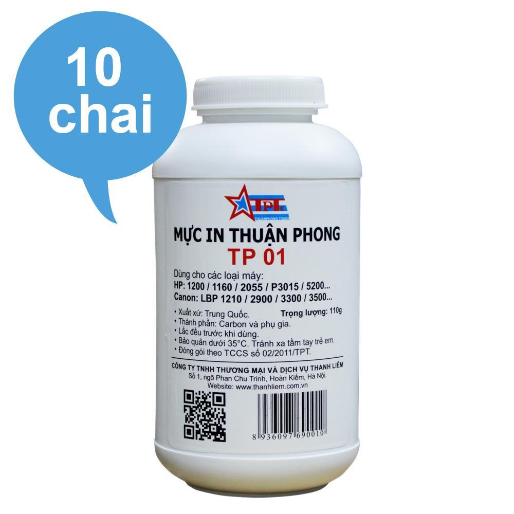 Hình ảnh (Bộ 10 chai) Mực đổ Thuận Phong TP01 dùng cho máy in HP / Canon