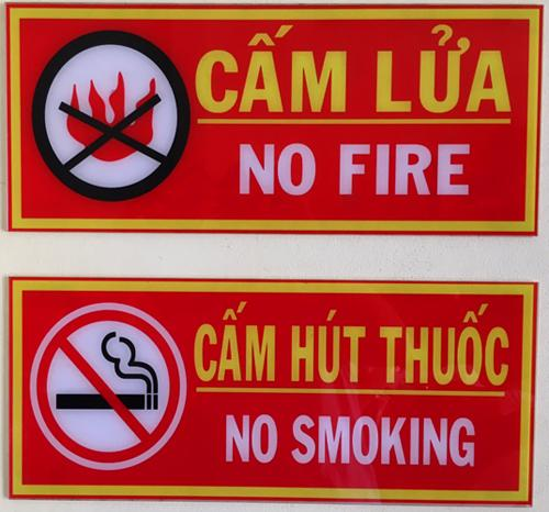 Hình ảnh Bảng cấm lửa cấm thuốc pccc
