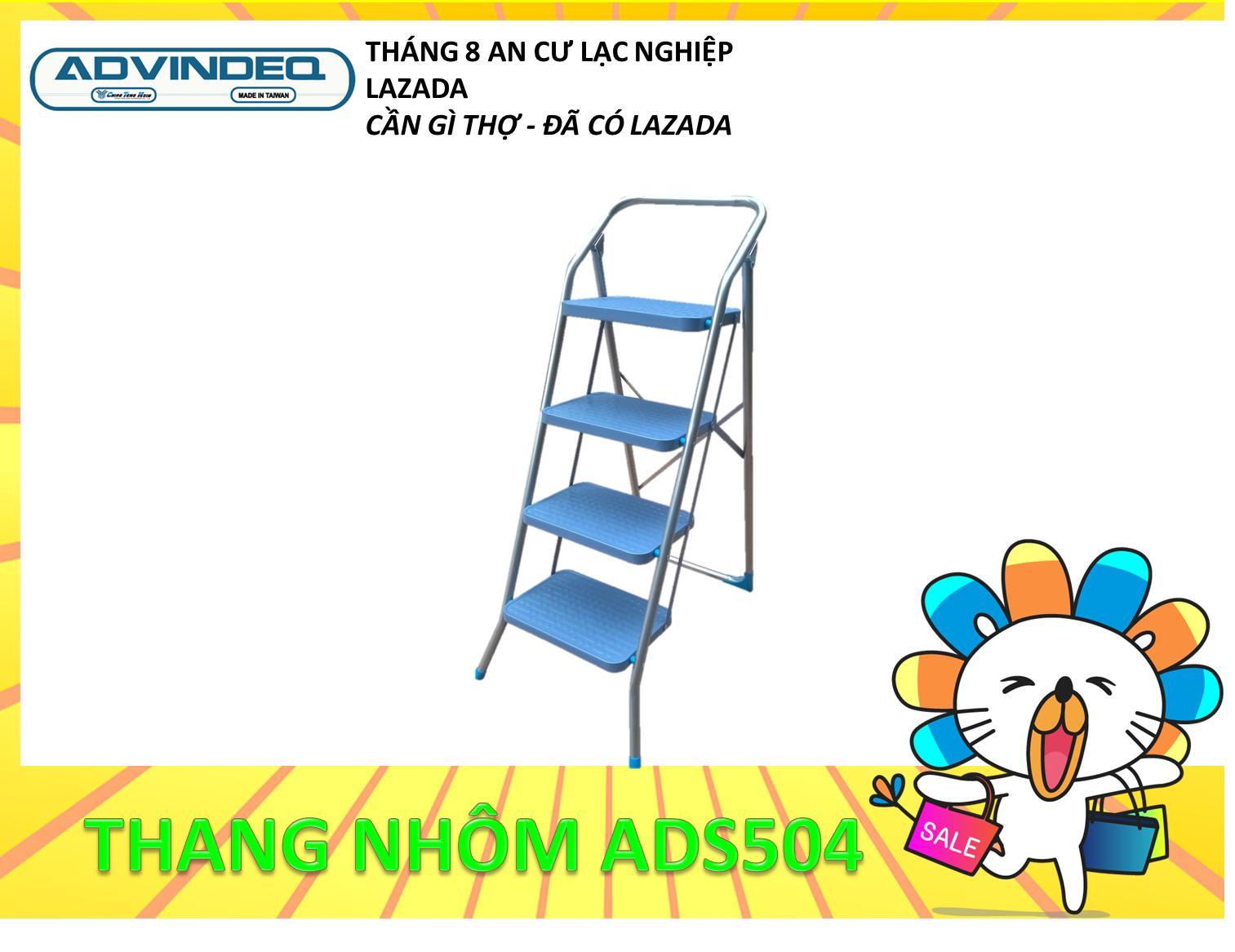Hình ảnh Thang ghế 4 bậc Advindeq ADS504 (Bậc cao nhất: 95cm)