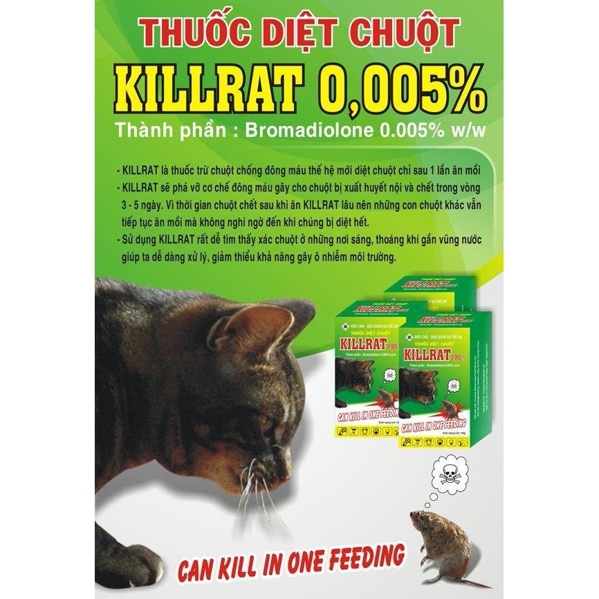 Hình ảnh Bộ 3 GóI Thuốc Diệt Chuột Cốm Killrat 0.005 bb (150g)