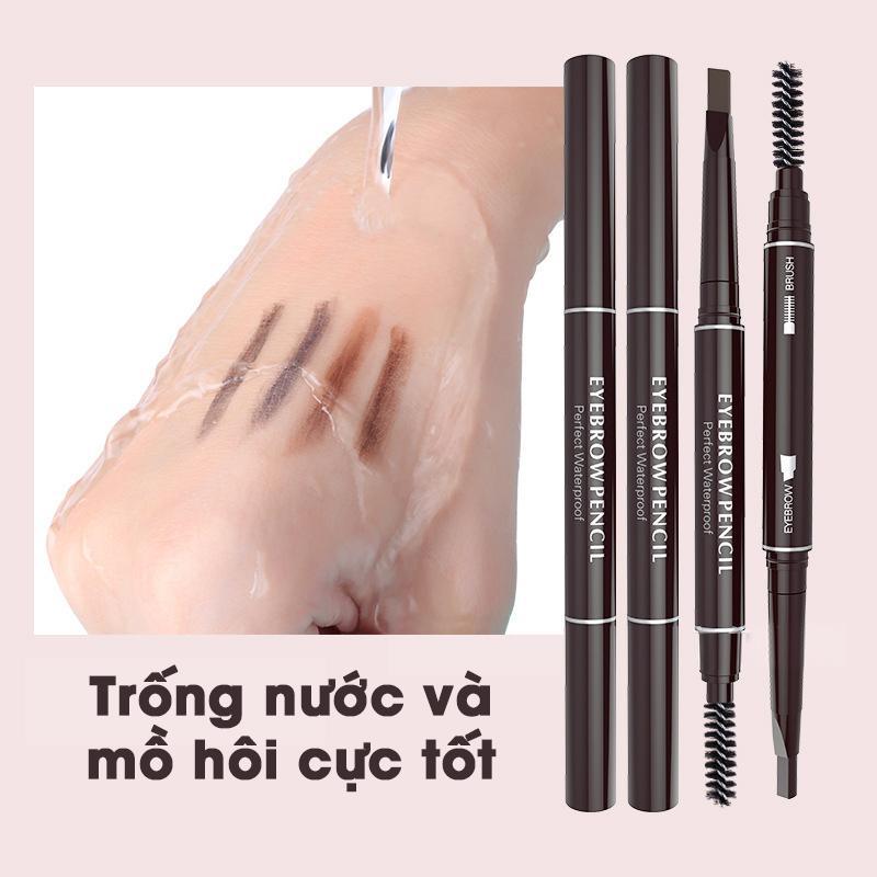 Hình ảnh Chì Kẻ Mày Ngang 2 Đầu Eyebrow Pencil - Waterproof