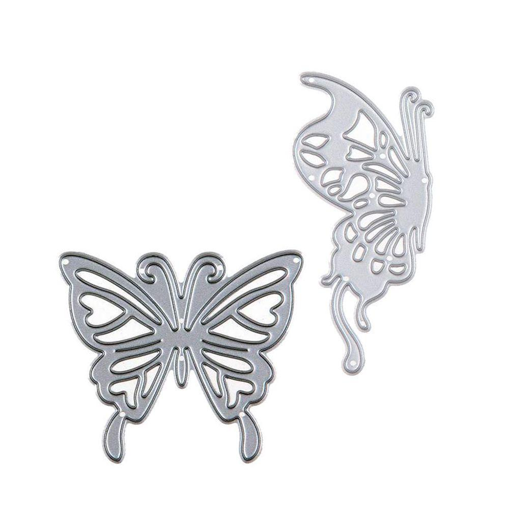 2pcs Butterfly Metal Cutting Dies Embossing Scrapbooking Diy Stencils Book Craft - Intl By Best Land.