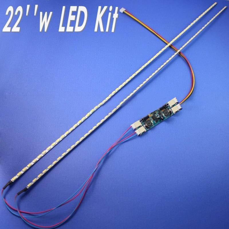 22 Inci Lebar Lampu Latar LED Lampu Update Kit Lampu LED Bisa Diatur untuk Monitor LCD 2 Strip LED