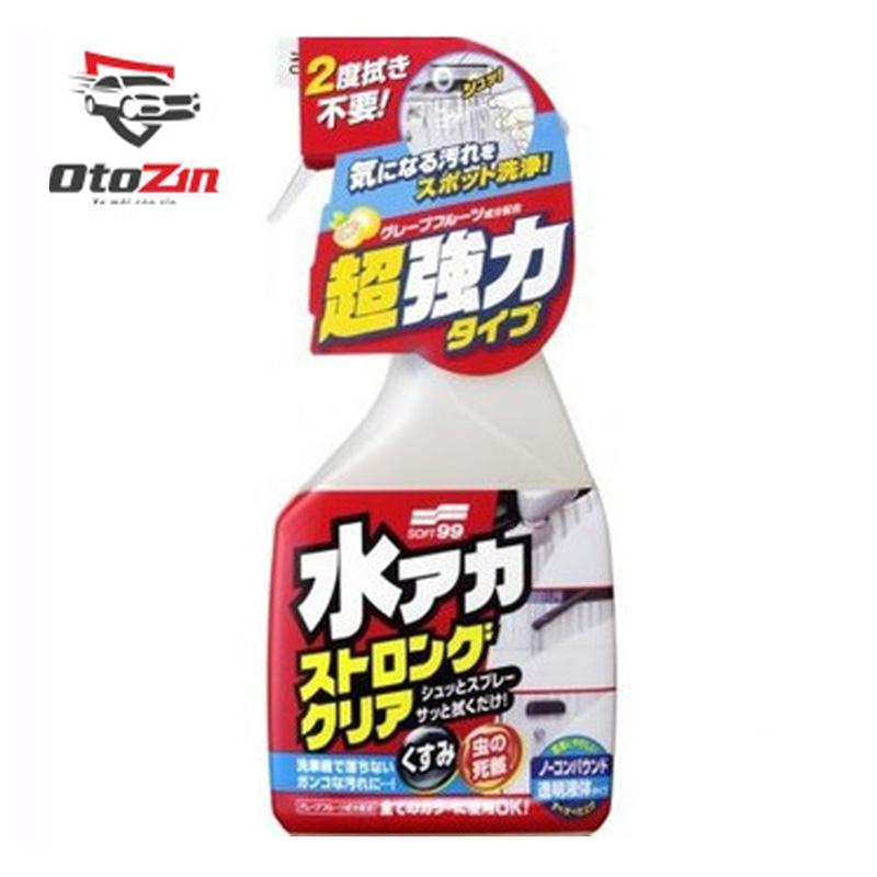 Dung Dịch Tẩy Chất Bẩn Cứng Đầu Trên Thân Ô Tô Stain Cleaner Strong Type R-141 Soft99 | Japan