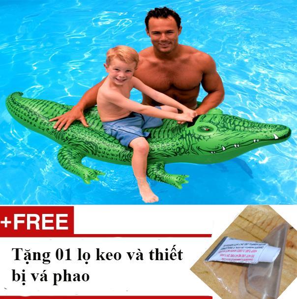 Hình ảnh Phao cá sấu tập bơi phổ biến nhất trên thị trường + tặng 01 lọ keo và thiết bị vá phao bơi khi bị rách