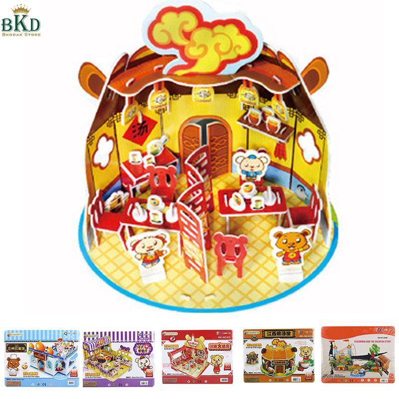 Hình ảnh Bkodak Store 3D Multicolor Jigsaw Puzzle Building Puzzle Toy Paper Puzzles