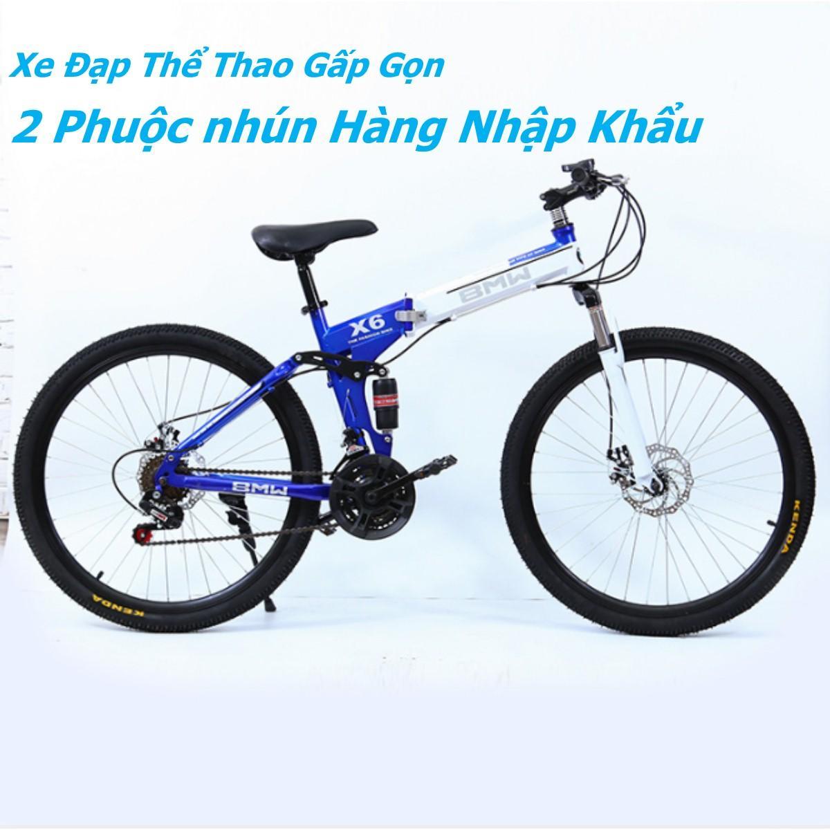 Xe đạp leo núi gấp gọn Xpro cao cấp 2 phuộc nhún 2 thắng đĩa