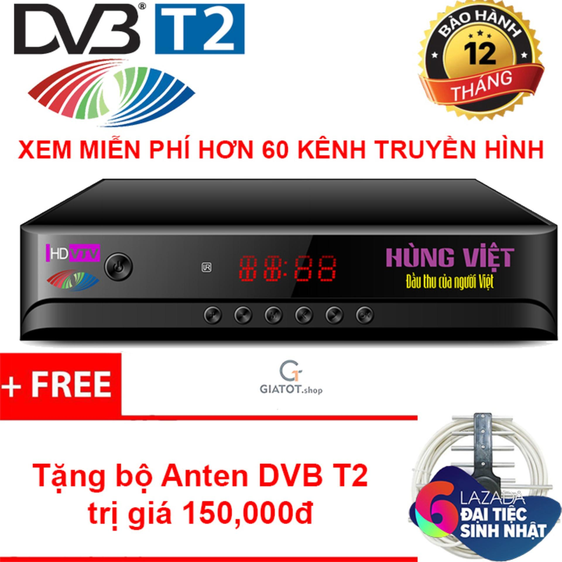 Bán Mua Combo Đầu Thu Kỹ Thuật Số Dvb T2 Hung Việt Hd 789S Anten Thong Minh