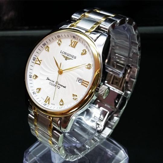 Hình ảnh [SIÊU KHUYẾN MẠI] TẶNG VÒNG PHONG THỦY 150.000đ khi mua Đồng hồ nam LG Demi trắng chống xước, chống nước