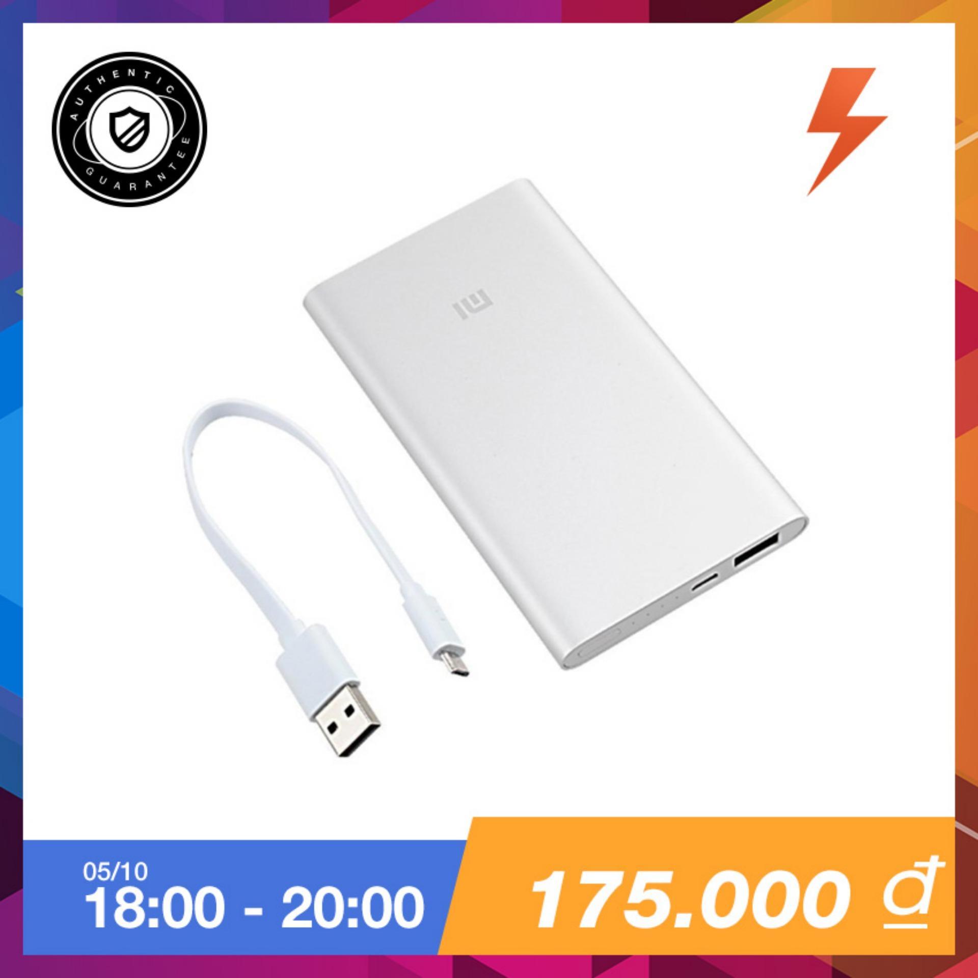 Giá Bán Pin Sạc Dự Phong Xiaomi Mi Powerbank 5000 Bạc Hang Phan Phối Chinh Thức Rẻ