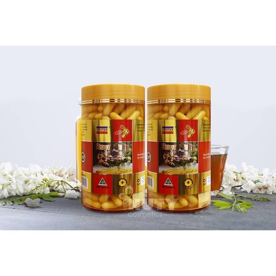 Ôn Tập Trên Sữa Ong Chua Costar Royal Jelly 1610Mg 365 Vien