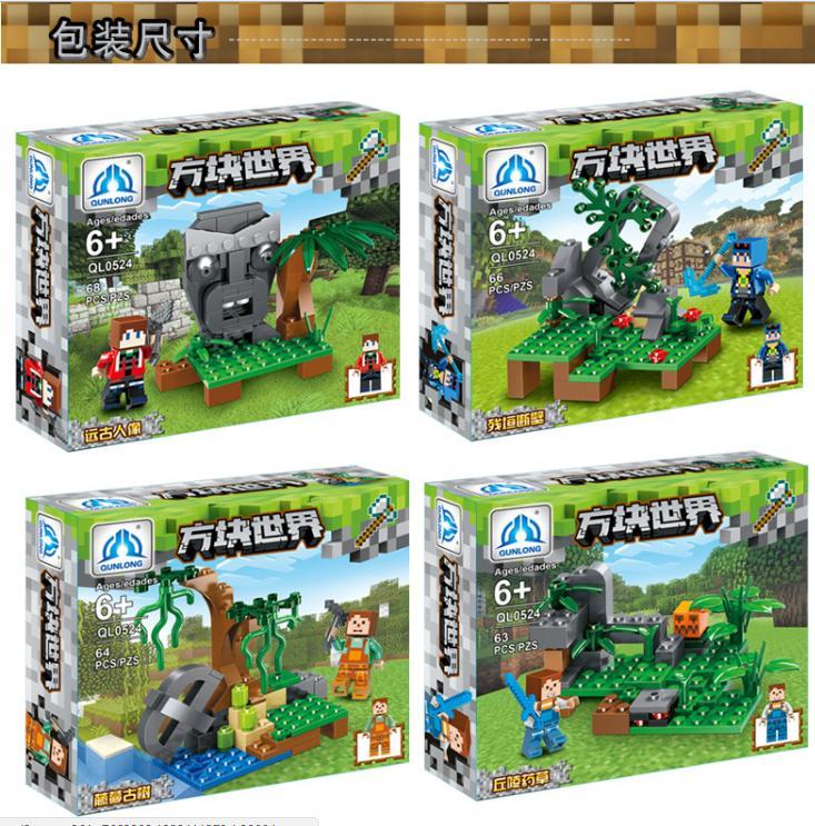 Hình ảnh Đồ chơi lắp ráp LEGO giá rẻ - Bộ combo 4 hộp Lego rừng xanh - 266 mảnh ghép với chất lượng bền đẹp, kích thích khả năng tư duy tối đa cho trẻ