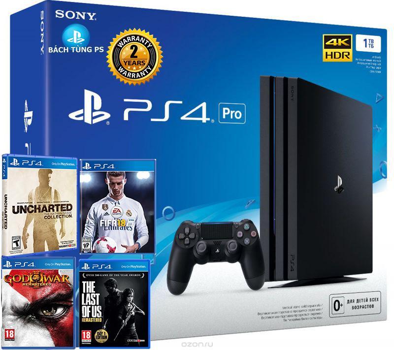 Hình ảnh Bộ Máy Chơi Game Sony PlayStation 4 PS4 Pro 1TB tặng kèm 4 game siêu chất