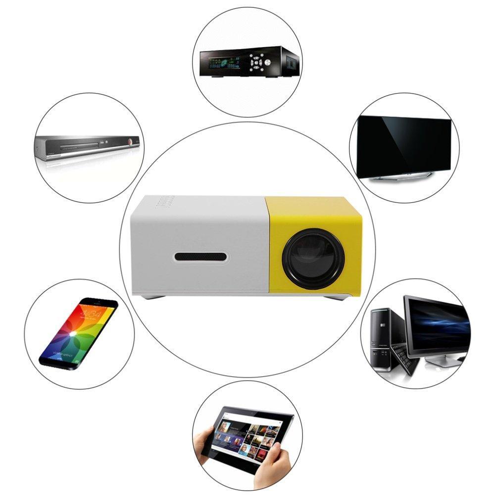 Hình ảnh Gia may chieu phim-May chieu nho gon-Galaxy K-Máy chiếu màn hình LCD TFT HD1080 YG300 MINI LED tiện lợi cho cuộc sống của bạn