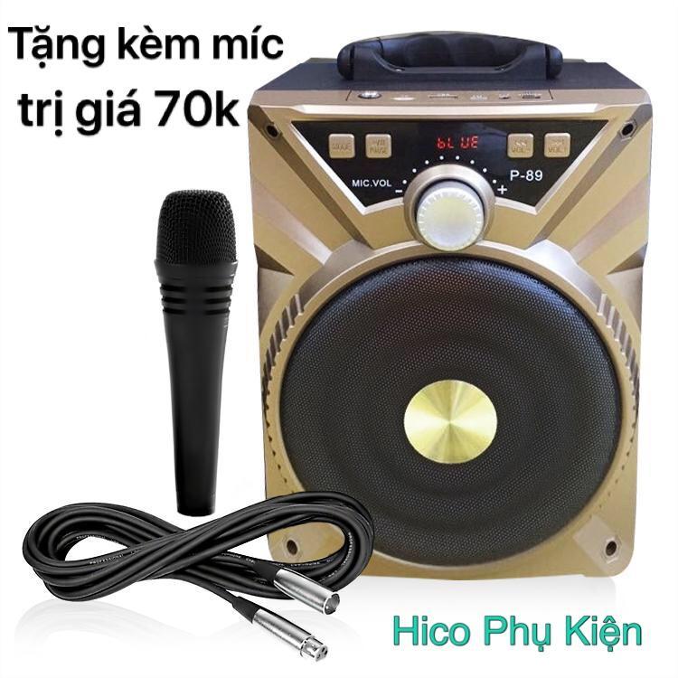 Hình ảnh Loa bluetooth hát Karaoke Xách tay P87 P88 P89 tặng kèm Micro