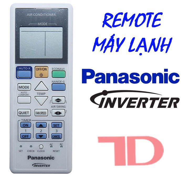 Hình ảnh Remote máy lạnh Pana Inverter mới