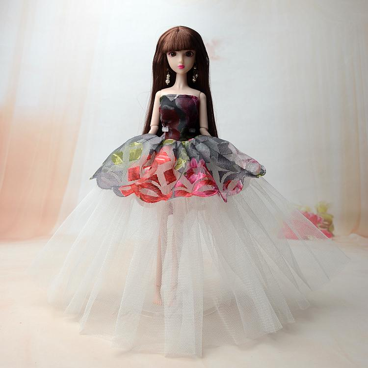 Hình ảnh Búp Bê 12 Khớp 3D Váy Tầng Xinh Xắn + Tặng Kèm 3 Váy Ngắn
