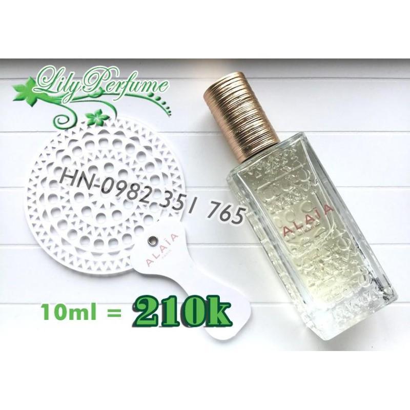 [Chiết 10ml] Alaia Blanche (trắng) Nước hoa -Thủy tinh vuông 9ml nhập khẩu