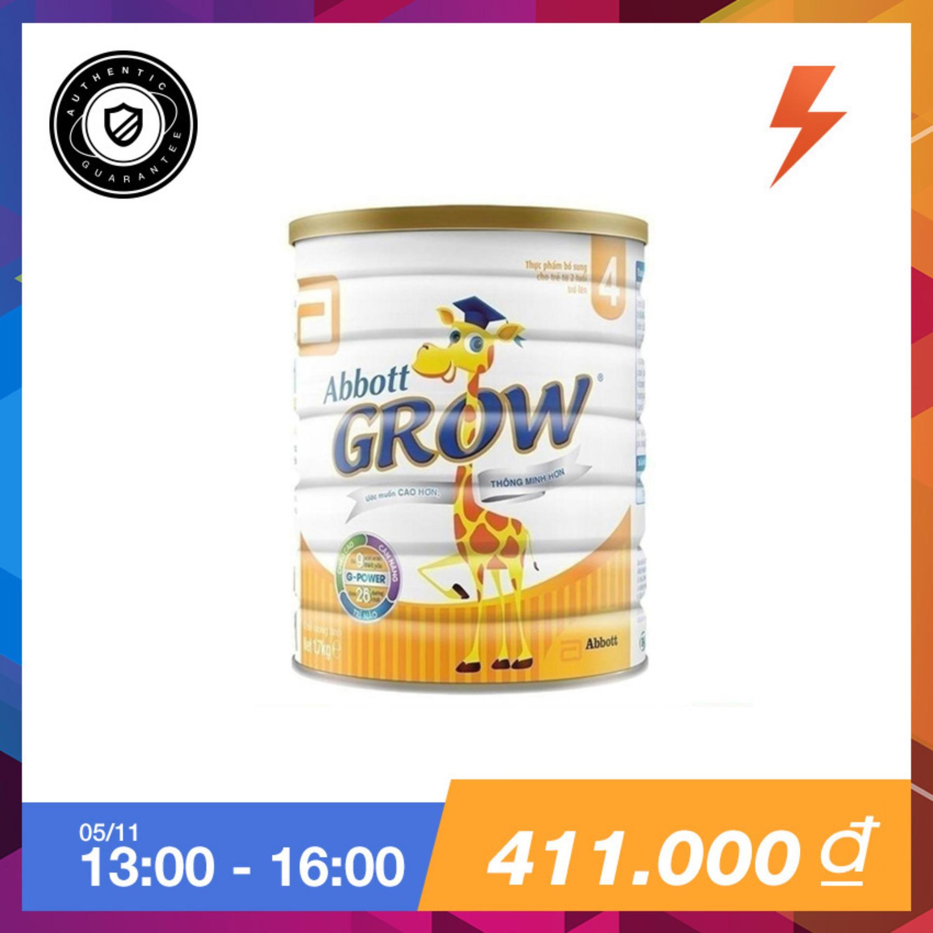 Ôn Tập Tốt Nhất Sữa Bột Abbott Grow 4 G Power Hương Vani 1 7Kg