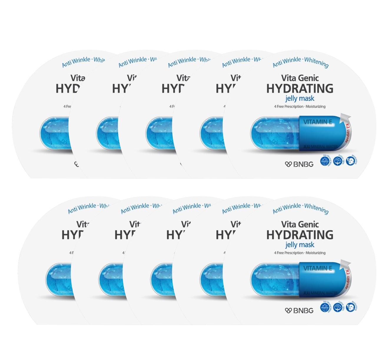 Hộp 10 Goi Mặt Nạ Giấy Cấp Nước Dưỡng Ẩm Da Mềm Mượt Căng Bong Banobagi Vita Genic Hydrating Jelly Mask Vitamin E 30Ml X10 Hồ Chí Minh Chiết Khấu