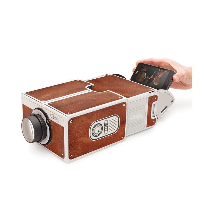 Hình ảnh Máy chiếu mini cho điện thoại (Nâu)