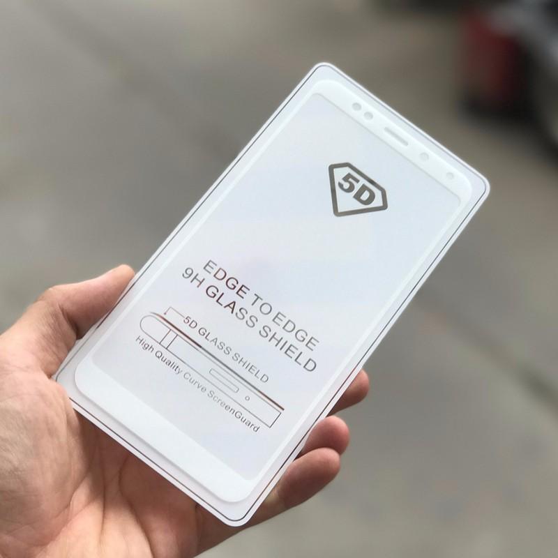 Mua Bộ 3 Miếng Dan Kinh Cường Lực Glass Full Man 5D Danh Cho Xiaomi Redmi 5 Plus Trắng Trực Tuyến Rẻ