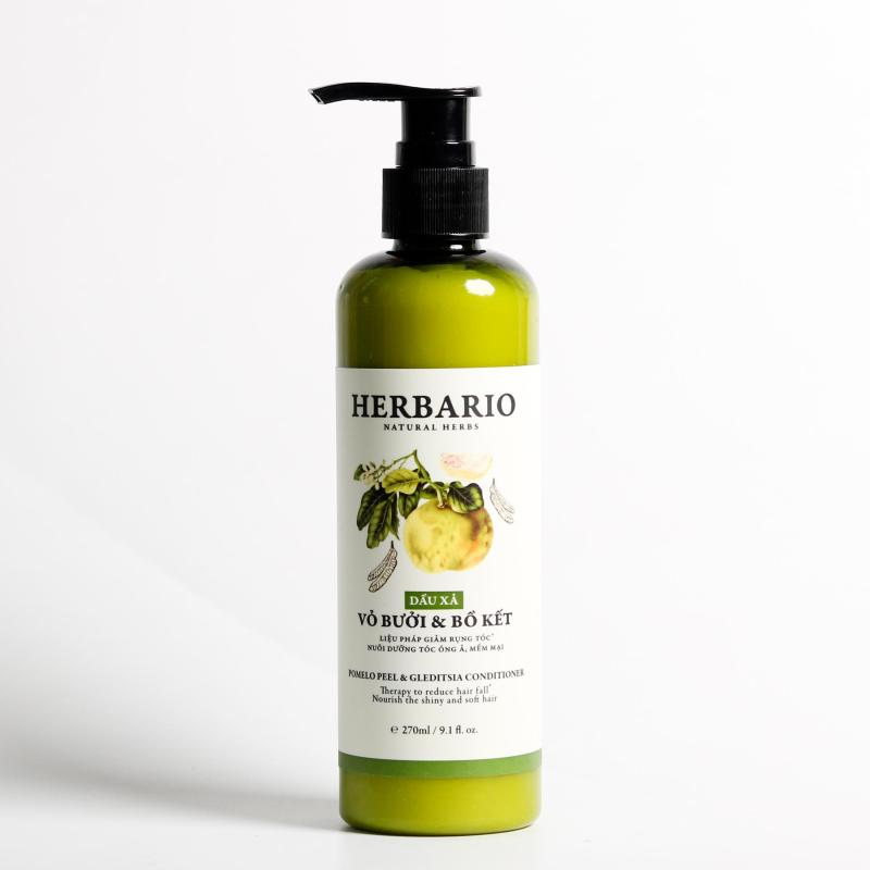 Dầu Xả tinh chất vỏ bưởi Và bồ kết herbario giúp tóc xuôn mượt dưỡng ẩm tóc 270ml nhập khẩu