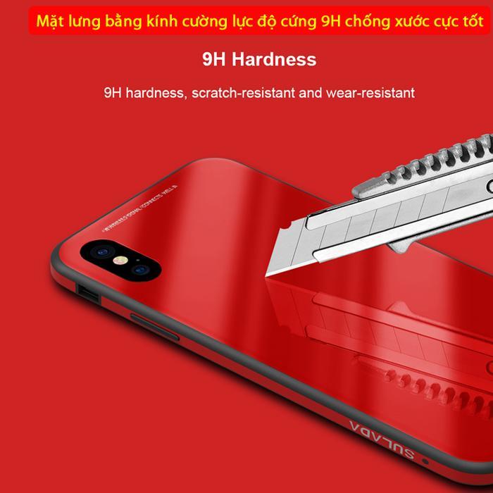 Ốp lưng Iphone X / Iphone 10 Sulada Glass 9H Metal tuyệt đẹp 2