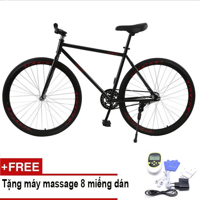 Xe đạp Fixed Gear Air Bike MK78 (đen) + Tặng vật lý trị liệu 8 miếng dán