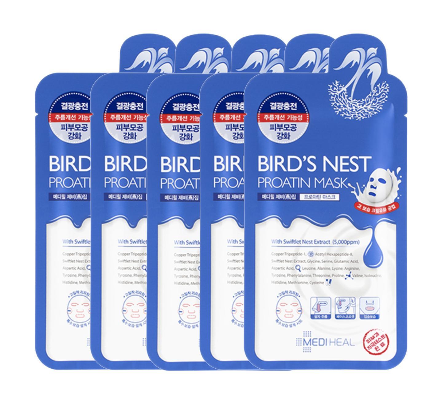 Combo 5 Mặt Nạ Chiết Xuất Từ Tổ Yến Giup Trẻ Hoa Lan Da Mediheal Birds Nest Proatin Mask 27Ml X5 Mediheal Rẻ Trong Hồ Chí Minh