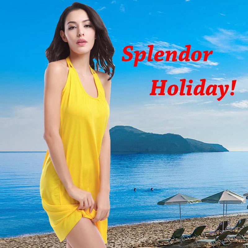 Hình ảnh Đồ bơi đi biển đầm bãi biển váy Bao Bộ Lưu Điện (vàng-K)-quốc tế