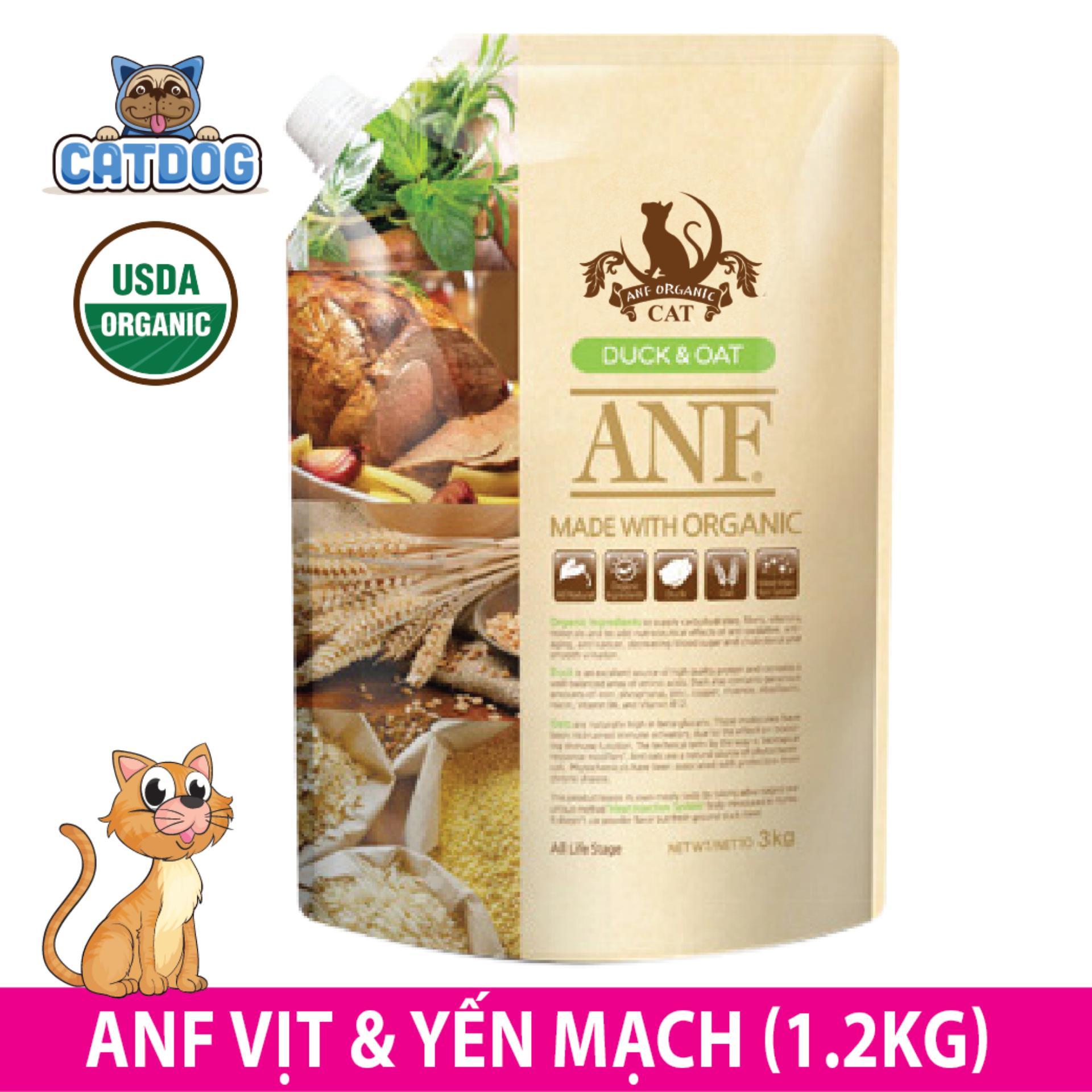 Giá Bán Hạt Anf Made With Organic Vị Vịt Yến Mạch 1 2Kg Meo Anf Nguyên