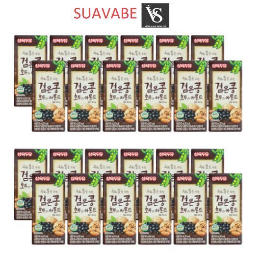 Bán Thung 24 Hộp Sữa Đậu Đen Oc Cho Hạnh Nhan Sahmyook Foods 190Ml Hộp Có Thương Hiệu Rẻ