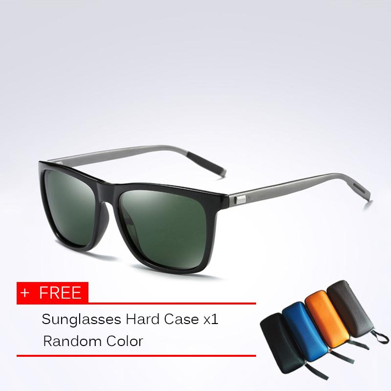 95246711cfd9 Classic Polarized Sunglasses Men Driving Square Black Frame Eyewear Male  Sun Glasses For Men Wome Oculos