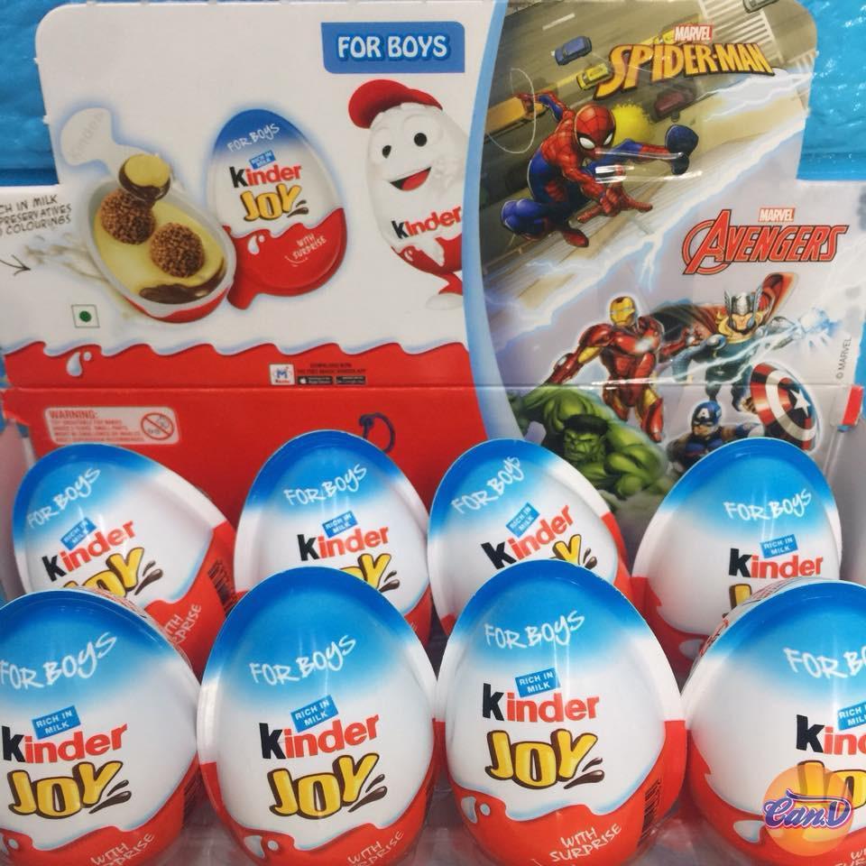 Hình ảnh Trứng Chocolate đồ chơi Kinder Joys Boys