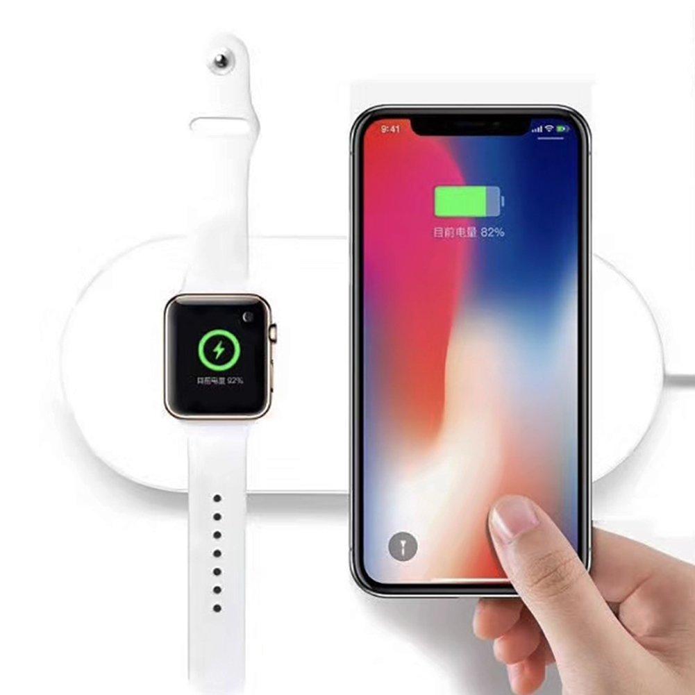Hình ảnh Sạc không dây Mini Air Power 2in1 cho Iphone và Apple Watch
