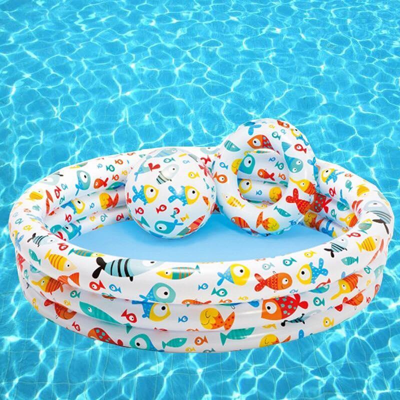 Hình ảnh Bể Bơi 3 Tầng Tặng Kèm Bóng Hơi Và Phao Tập Bơi Cho Bé