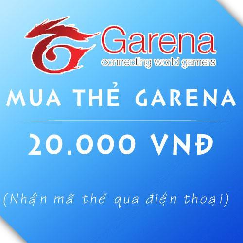 Hình ảnh Mã thẻ Game Garena 20.000