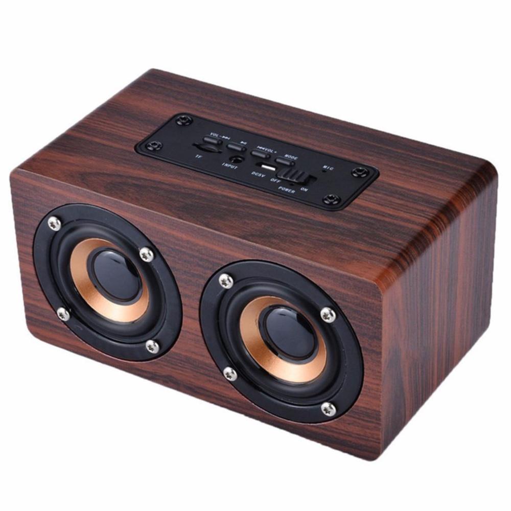 Hình ảnh Loa gỗ Bluetooth Super Bass vi tính âm thanh nổi HIFI Stereo speaker