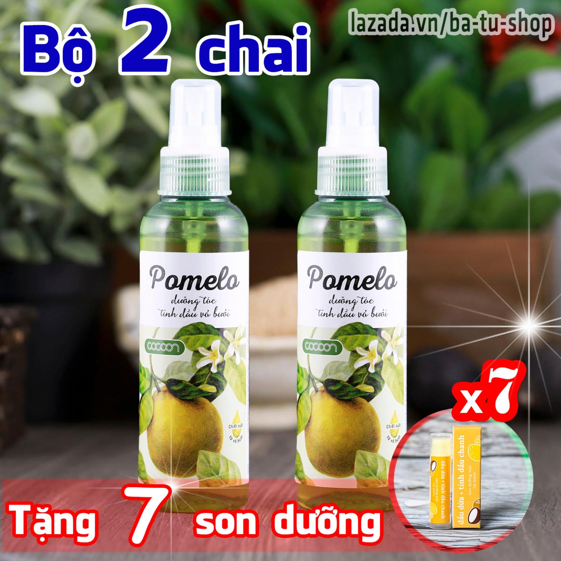 Hình ảnh Bộ 2 chai xịt tinh dầu bưởi Pomelo tặng ngay 7 son dưỡng môi Lip Care