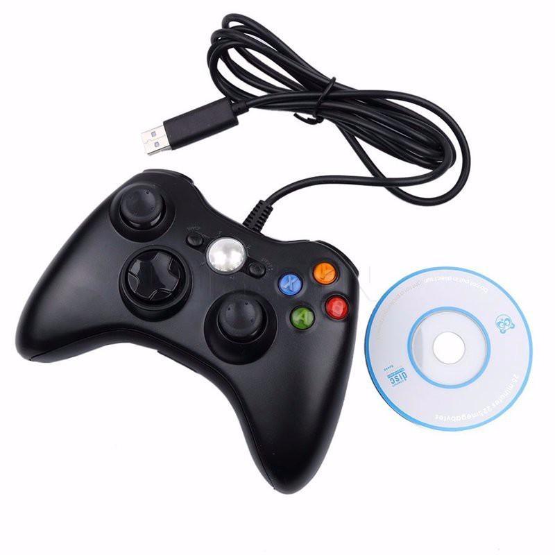 Hình ảnh TAY CẦM GAME ĐƠN RUNG USB-360 CÓ DÂY KIỂU DÁNG XBOX CỰC PRO